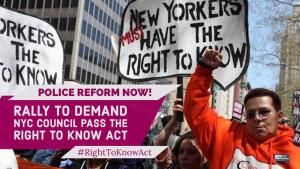 Right to Know Act Rally